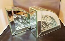 "New Pier 1 Pair of Mirror Bling Large 7""x6"" Book Ends Glam Beauty Rare Ooak Gift"
