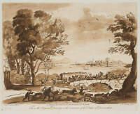 R. EARLOM (1743-1822), n.Lorrain, Schlacht auf einer Brücke, 1776, Mezzotinto