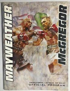 Floyd Mayweather Jr vs Conor McGregor onsite program # 50 - 0 boxing