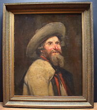 G  MOROGE Signé Portrait Autoportrait Peintre Personnage Bretagne Breton XIX XX