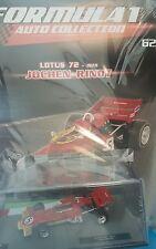 FORMULA 1 AUTO COLLECTION Lotus 72 - 1970 JOCHEN RINDT # 62 - 1/43 + BOOK