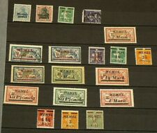 Memel Lithuania Lot of 19 Stamps Majority Mint Hinged #6503