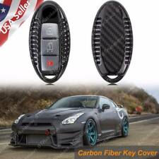 Genuine Carbon Fiber Remote Keyless Entry Key FOB Cover Case For 2007+ Nissan