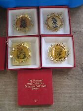 4 Hummel Gold Christmas Ornaments.2 sided.In Boxes.All r Different.