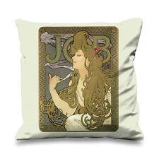 Alphonse Mucha Job Faux Silk 45cm x 45cm Sofa Cushion - Art Nouveau