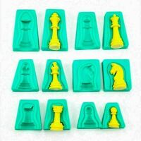 6x Silikon 3D International Schach Backform Form Kuchen Fondant Küche Cake- P0B8