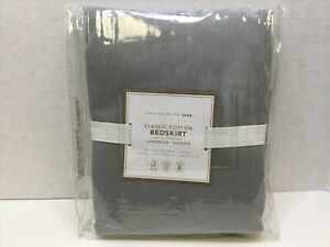 POTTERY BARN Classic Cotton Bed Skirt, FULL SIZE, Light Gray, 6700771, FREE SHIP