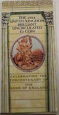 1994 Great Britain UK 2 Pounds BU UNC Tercentenary Coin Royal Mint Folder