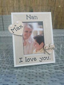 Personalised Nan Grandad Grandma Grandparents Gran Photo Picture Frame Gift.