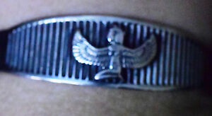 Hallmark Egyptian Pharaoh Silver Cuff Bracelet, and Isis