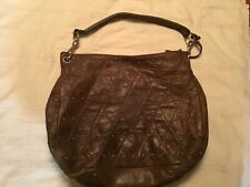 Abro Woman's Brown Leather Handbag Made In Italy Large Tote Purse