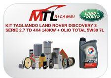 KIT TAGLIANDO LAND ROVER DISCOVERY 3 SERIE 2.7 TD 4X4 140KW + OLIO TOTAL 5W30 7