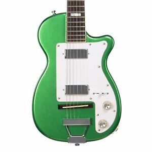 Airline Guitars H44 DLX - Metallic Green - Vintage Harmony style electric guitar