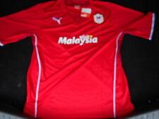 Cardiff City Casa De Manga Corta Camisa De Fútbol 2013/2014 Nuevo con etiquetas
