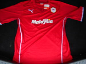 XXL Cardiff City Home Short Sleeve Football Shirt 2013/2014  NEW WITH TAGS