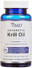 1MD Antarctic Krill Oil Platinum Lemon Coated Soft Gels 60 Count