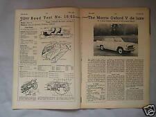1960 Morris Oxford V de luxe Original Motor magazine Road test