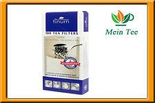 3x 100 unidades teefilter Finum large papel filtro con lengüeta-colador de té
