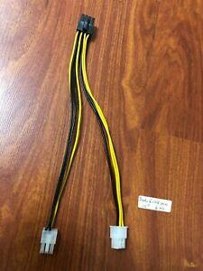"Asus DUAL  6 PIN TO 8 pin PCI-Express VGA Power  Cable ,Original 10"""