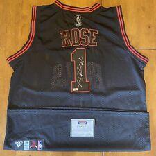 Derrick Rose Signed Autographed Chicago Bulls Jersey Mounted Memories COA