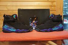 2007 Nike Air Jordan 8 Retro Aqua Black Bright Concord Aquatone Size 8.5 (3957)