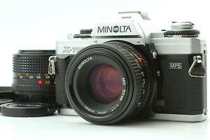 【Posterior Plata Casi Mint + 3 2Lens 】Minolta X-700 SLR + Md 50mm 45mm Lente De