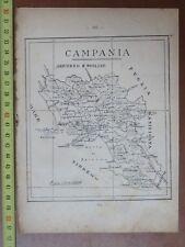 Vecchia mappa della CAMPANIA tratta da un libro di scuola degli inizi 900 NAPOLI