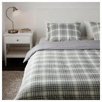 IKEA Snarjmara King Size Duvet Cover & 4/Pillowcases