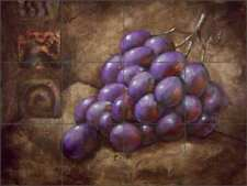 Grape Tile Backsplash Wilder Rich Fruit Art Ceramic Mural OB-WR687a