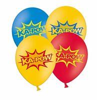 "Superhero 'KA-POW' 12"" Assorted mix Latex Balloons 12 ct by Party Decor"