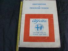CATALOGO CARATTERISTICHE PRESCRIZIONI TECNICHE ALFETTA TIPO 116 1800 2000 ALFA