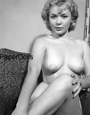PDSN-0317 SCARCE VINTAGE 4X5 B/W 1950'S-1960'S NEGATIVE SWEET PINUP NUDE MODEL