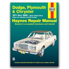 Haynes Repair Manual for 1971-1974 Plymouth Fury III - Shop Service Garage wg