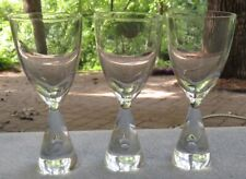 THREE Holmegaard Princess Cordial Goblets