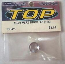 TEAM INTEGY Silver Alloy MSR2 Shock Cap (1) NEW INT T3849C RC Part