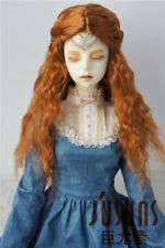 8-9inch Long Princess Curly Wig 1/3 Syhthetic Mohair BJD Wigs Vinyl Doll Wig