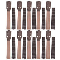 10 Sets Ukulele Neck and Fretboard for 23 Inch Concert Ukelele Uke Hawaii Guitar