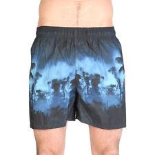 Polyester Patternless Regular Size Swim Shorts for Men