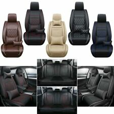 Universal 5-Seat SUV Car Seat Cover Protector Set PU Leather Headests +Cushions