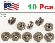 10 X V623ZZ 623VV V Groove Guide Pulley Rail Ball Bearings Metal (3mm*12mm*4mm)