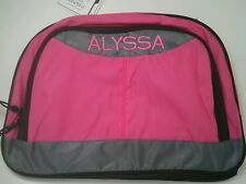Pottery Barn Kids Small Colton Pink Gray Duffle Bag with name ALYSSA New w/ tags