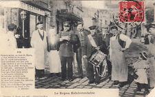 PONTOISE tambour de ville le repos hebdomadaire avis de A Deligny timbrée 1908