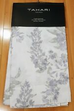 NEW TAHARI Purple Lavender Silver Floral Window Curtain Panels 37x84 PAIR