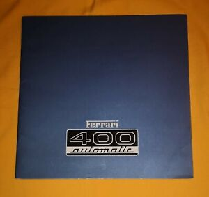Ferrari 400 Automatic 1976 Prospekt Brochure Catalog Depliant Prospetto Prospect