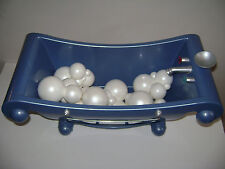 AMERICAN GIRL DOLL BLUE BATHTUB BATH TUB with 10 WHITE BUBBLES RETIRED