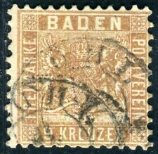 BADEN 1862 15b gestempelt SCHÖN gute FARBE 320€(D6090