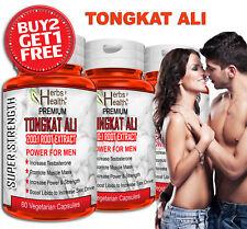 TONGKAT ALI Capsules 100% Organic 200:1 Testosterone Muscle Libido Power for Men