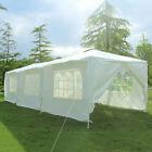 10'x30' Outdoor Canopy Party Wedding Tent White Gazebo Pavilion 8 SideWalls