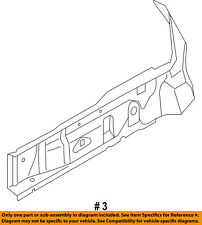 FORD OEM 14-18 Fiesta Fender-Outer Rail Right D2BZ54010A88A