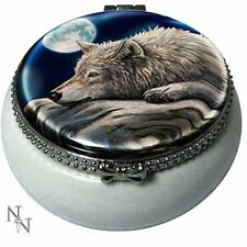 NEW SMALL TRINKET BOX LISA PARKER QUIET REFLECTION WOLF 5.5CM NEMESIS NOW BOXED